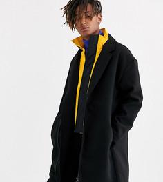 Черное пальто COLLUSION-Черный