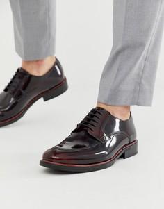 Темно-красные кожаные туфли на шнуровке Silver Street-Красный