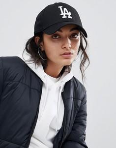 Черная кепка New Era LA 9Forty-Черный