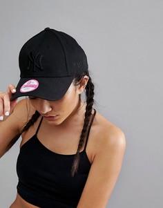 Черная кепка с однотонным логотипом New Era 9Forty NY-Черный
