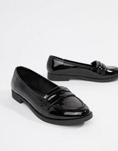 Туфли на плоской подошве ASOS DESIGN Minny-Черный