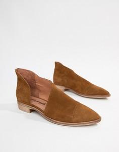 Туфли на плоской подошве Free People Royale-Коричневый