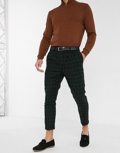 Черные брюки в шотландскую клетку New Look-Черный