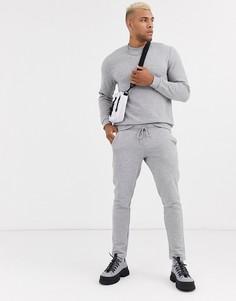 Серый меланжевый спортивный костюм ASOS DESIGN