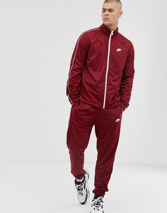 Красный спортивный костюм Nike