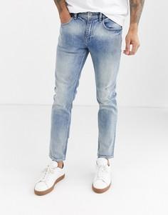 Выбеленные джинсы скинни ASOS DESIGN-Синий