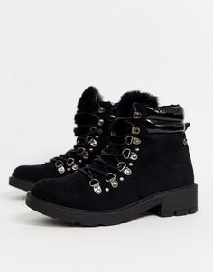 Походные ботинки на каблуке XTI-Черный