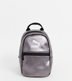 Серебристый рюкзак металлик Puma Core Minime-Серебряный