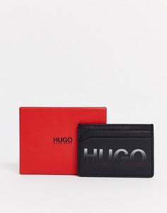 Черная кредитница с большим логотипом HUGO Gradiant-Черный