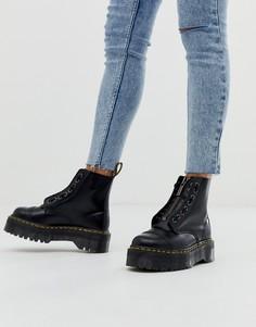 Черные кожаные ботинки на плоской платформе с молнией Dr Martens Sinclair-Черный