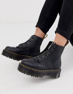 Черные кожаные ботинки на платформе Dr Martens Sinclair-Черный