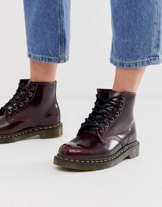 Ботинки из искусственной кожи вишневого цвета Dr Martens 101-Красный