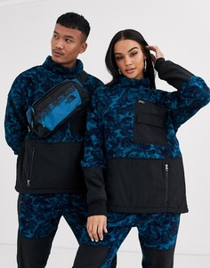 Синий флисовый топ с принтом The North Face