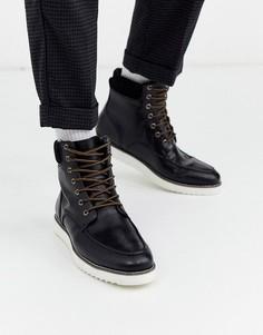 Черные ботинки на шнуровке Truffle Collection hybrid-Черный