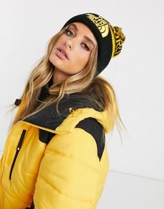 Желтая шапка-бини с помпоном The North Face-Черный