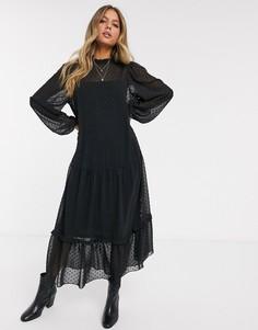 Платье макси ASOS DESIGN-Черный