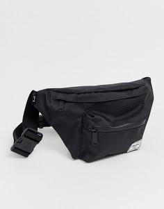 Черная сумка-кошелек на пояс с однотонной молнией Hershel Supply Co Seventeen-Черный
