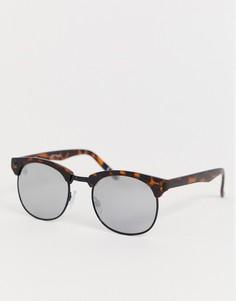 Черепаховые круглые солнцезащитные очки с зеркальными стеклами Jeepers Peepers-Коричневый