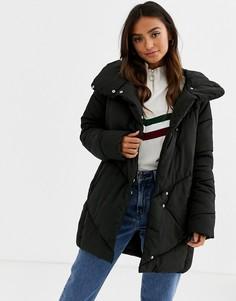 Дутая куртка в стиле oversize с шевронами JDY-Черный