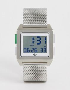 Серебристые часы adidas M1 Archive-Серебряный
