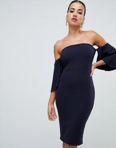 Платье миди AX Paris-Темно-синий