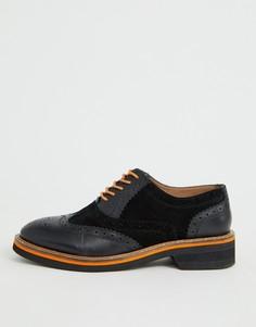Черные кожаные броги ASOS DESIGN Misse-Черный