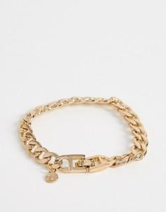 Золотистый массивный браслет-цепочка Chained & Able-Золотой