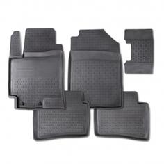 Резиновые коврики SEINTEX с высоким бортом для Chevrolet Aveo II 2011-2019 / 82910