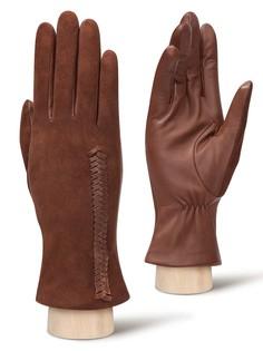Перчатки женские Eleganzza IS817 коричневые 8