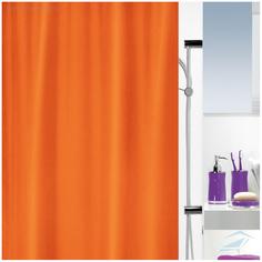 Штора для ванной Spirella Atlas 180x200 см Оранжевая