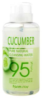 Средство для снятия макияжа FarmStay Pure Cleansing Water Cucumber 500 мл
