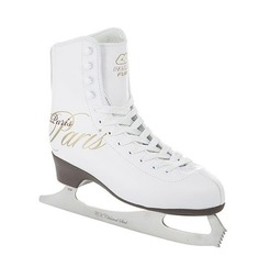 Фигурные коньки PARIS LUX fur (белый), Белый (35) Спортивная Коллекция