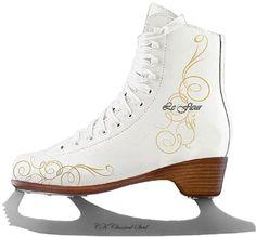 Фигурные коньки LE FLEUR leather 50/50 (белый), Белый (34) Спортивная Коллекция