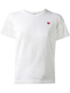 Comme Des Garçons Play футболка с вышивкой сердца