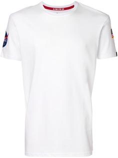 Alpha Industries футболка с несколькими нашивками