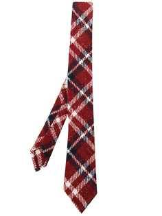 Thom Browne твидовый галстук в клетку тартан