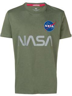 Alpha Industries футболка с нашивкой NASA