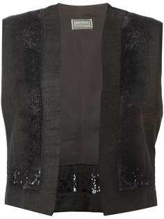 Versace Pre-Owned жилетка с цветочной вышивкой