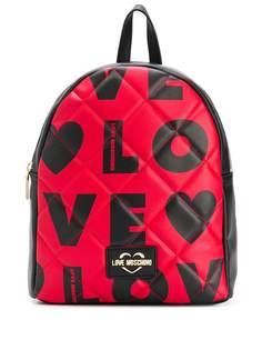 Love Moschino стеганый рюкзак с логотипом
