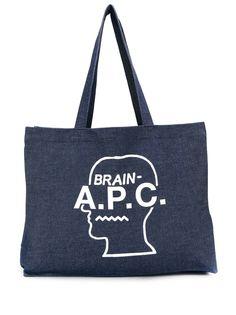 A.P.C. сумка-тоут с принтом Brain
