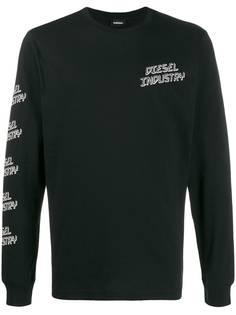 Diesel футболка с длинными рукавами и принтом Diesel Industry