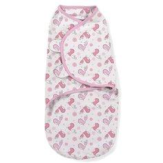 "Конверт на липучке Swaddleme, размер L ""Розовые птички"", цвет: розовый Summer Infant"
