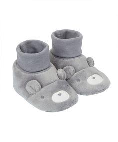 "Пинетки-носочки ""Мишка"", серый Mothercare"
