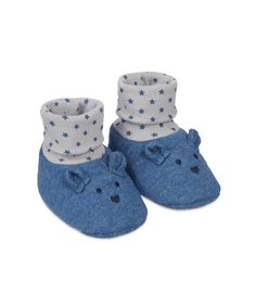 "Носочки-пинетки ""Мишка"", синий Mothercare"