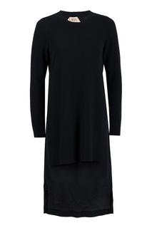 Черное комбинированное платье No.21