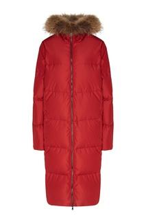 Красное стеганое пальто на молнии Akhmadullina Dreams