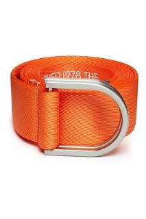 Оранжевый ремень с надписями Calvin Klein