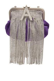 Фиолетовый ридикюль с декором из кристаллов Attico