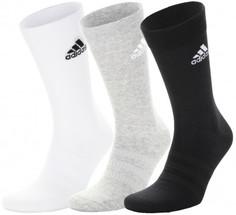 Носки Adidas Crew, 3 пары, размер 43-45