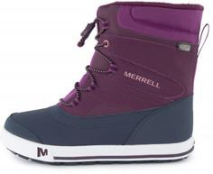 Ботинки утепленные для девочек Merrell Ml-Snow Bank 2.0, размер 31,5